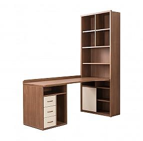 브라운 H형 책상 (수납형서랍세트)
